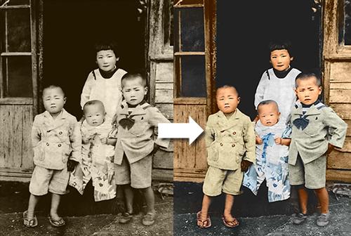写真 白黒 カラー 変換